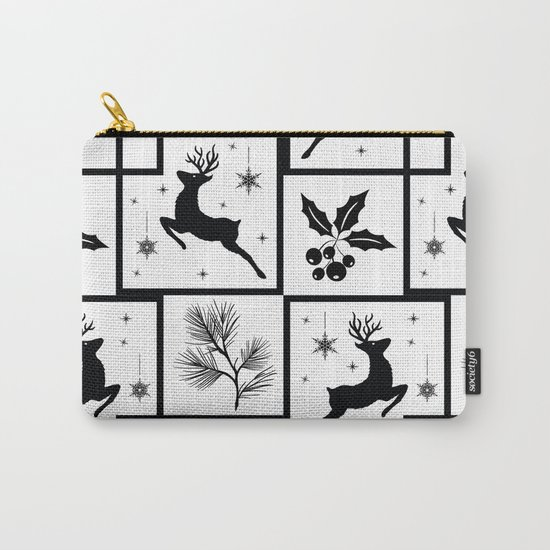 Christmas black and white pattern. Carry-All Pouch
