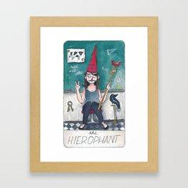 The Solipsist Tarot | V - The Hierophant Framed Art Print