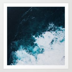Wild ocean waves II Art Print