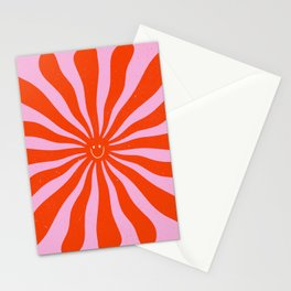 Retro Sun Vintage 70s  Stationery Cards