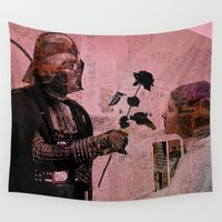 leia Wall Tapestries featuring Darth loves Leia by Ganech joe