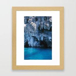 NATURE'S WONDER #3 - BLUE GROTTO #art #society6 Framed Art Print
