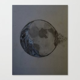 Moon in Reverse Canvas Print