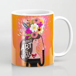 Work From Home Happys- Make Art Be Well Coffee Mug