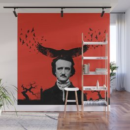 Edgar Allan Poe / Raven / Digital Painting Wall Mural