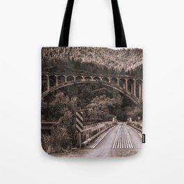 Dog Creek and Fenders Ferry Bridges Tote Bag