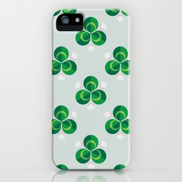 White Clover iPhone Case