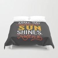 sunshine Duvet Covers featuring Sunshine by Wharton