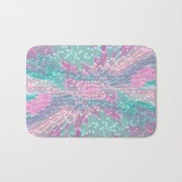 Pink and Mint Blocks - Bird View Bath Mat