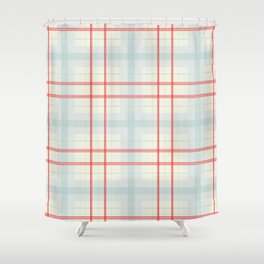 Light plaid pattern Shower Curtain