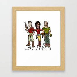 SHINY! Mal, Zoe, and Jayne...  The Larry, Moe, and Curly of space? Firefly and Serenity Framed Art Print