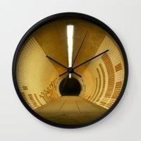 subway Wall Clocks featuring Subway by Matt Callaghan