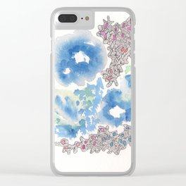 170321 Spring Watercolour 31| Micron Pen Drawing |Modern Watercolor Art Clear iPhone Case
