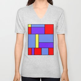 Abstract #482 Unisex V-Neck