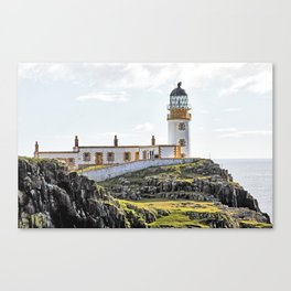 Lighthouse at Neast Point, Isle of Skye, Scotland Canvas Print