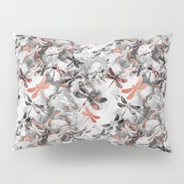 Dragonfly Lullaby in Marble and Rose Gold Pillow Sham