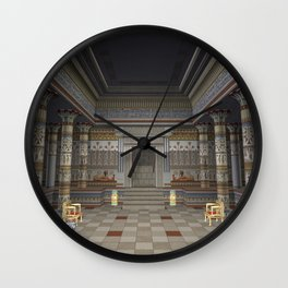 Ancient Egyptian Hall Wall Clock