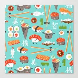Happy Sushi Canvas Print