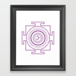 Sri Yantra Crown Chakra Framed Art Print