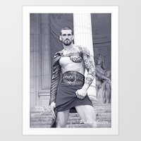 gladiator Art Prints featuring The Gladiator by Pablo-chester Photography