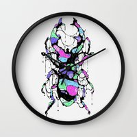bug Wall Clocks featuring BUG by maivisto