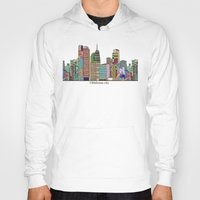 oklahoma Hoodies featuring oklahoma city skyline by bri.buckley