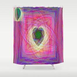 Sacred Geometry Art- Fractal Art- Abstract Art- Helix- Torus- Double Yum Shower Curtain