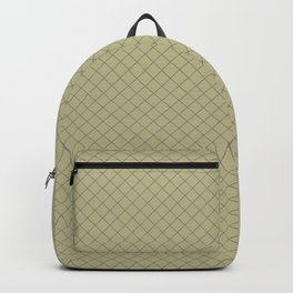 Grape Vine Purple on Earthy Green Parable to 2020 Color of the Year Back to Nature Angled Grid Backpack