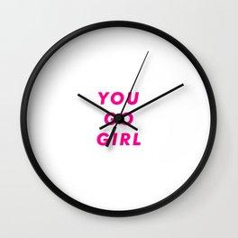 You Go Girl Aesthetic Wall Clock