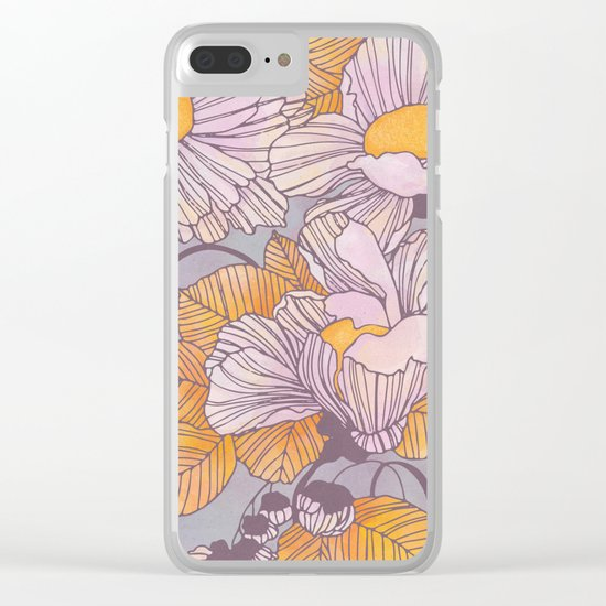 Sun Blossoms Clear iPhone Case