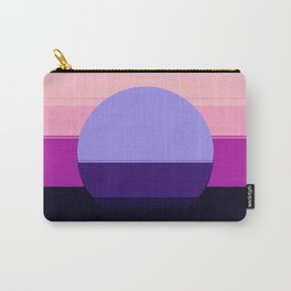 Mod Circle Abstract Pink Purple Periwinkle Blue Carry-All Pouch