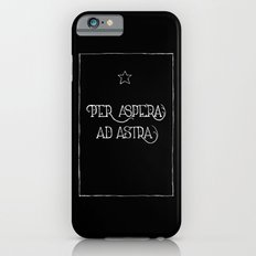 Per Aspera Ad Astra (black) Slim Case iPhone 6s