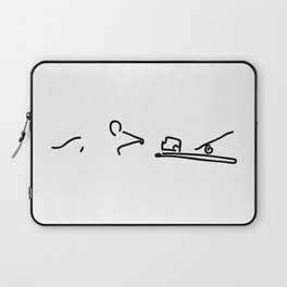 mouse before mousetrap with cheese Laptop Sleeve