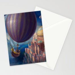 Marvelous Spectacular Fantasy Castle Hot Air Balloon Air Ship 1001 Nights Dreamland Ultra HD Stationery Cards