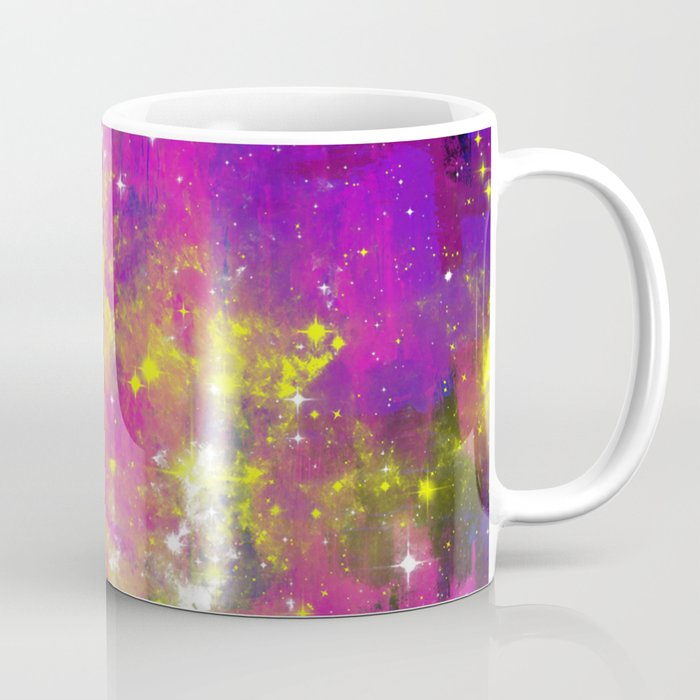 Journey Through Space Abstract Purple And Blue Space Themed Artwork Coffee Mug By Printpix