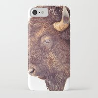 bull iPhone & iPod Cases featuring Bull by BonZeye Studio