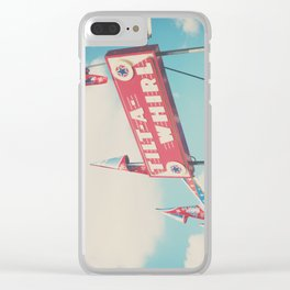 the tilt-a-whirl at the carnival Clear iPhone Case