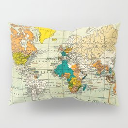 Map of the old world Pillow Sham