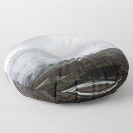September snow Floor Pillow