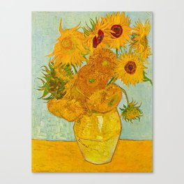 Sunflowers Oil Painting By Vincent van Gogh Canvas Print