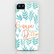 Let's Carpe The Hell Out Of This Diem - Watercolor Slim Case iPhone SE