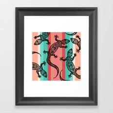 Southwest Gecko Framed Art Print