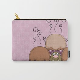 Cute Monster With Orange And Pink Frosted Cupcakes Carry-All Pouch