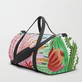 Cactus Illustration Duffle Bag