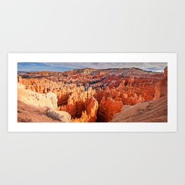 Sunset Point at Bryce Canyon Panorama Art Print