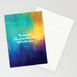 The wound is the place where the Light enters you, Rumi quote Stationery Cards