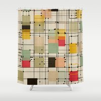 bedding Shower Curtains featuring embrace uncertainty by spinL