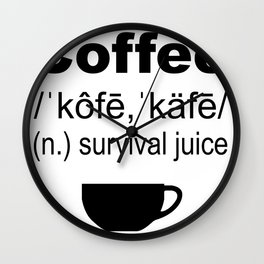 Definition of Coffee - Dark Roast Edition Wall Clock