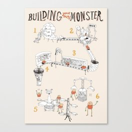 Building a Monster Canvas Print