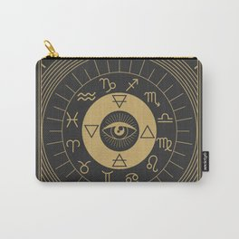 La Roue de Fortune or Wheel of Fortune Carry-All Pouch